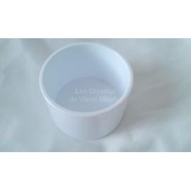 Mangeoire blanche ronde 7 cm
