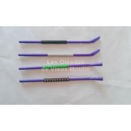 Barrette de 10 bagues en plastique 4 mm