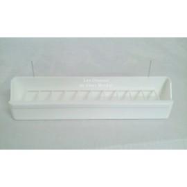Mangeoire pour volière blanche - 30 cm