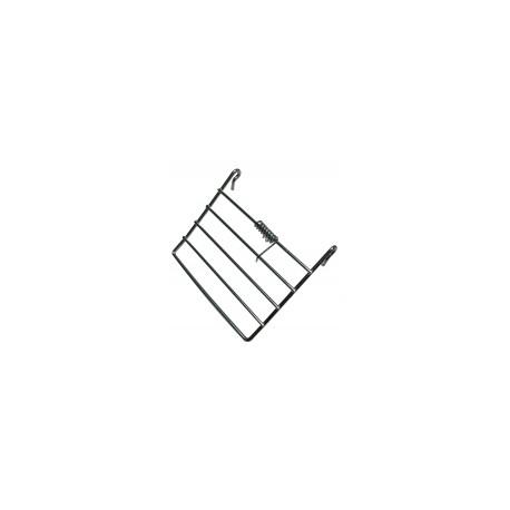 Porte métallique avec ressort pour barreaux verticaux